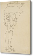 Картина Стоящая женщина. Ноги.