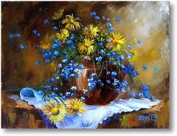 Картина Желтые ромашки