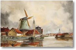 Картина Канал сцены, Роттердам