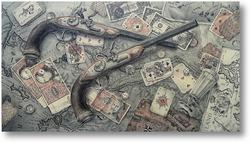 Картина Карты, деньги, два ствола