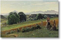 Картина В поле