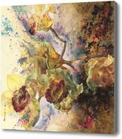 Картина Ветка желтой орхидеи