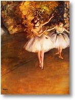 Картина Две танцовщицы на сцене