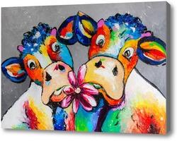 Картина Коровье свидание