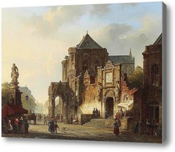 Купить картину Рыночная площадь в немецком городе