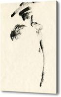 Картина дама в мехах