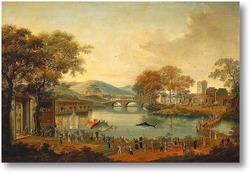 Картина Шествие на берегу озера