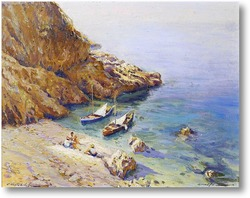 Картина На пляже Амалфи