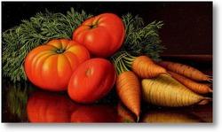 Картина Натюрморт с помидорами и морковью