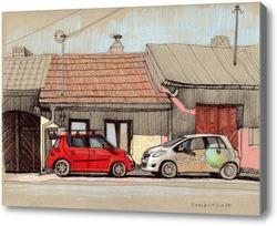 Картина Красная машинка.