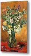 Картина Цветочный натюрморт с весенними цветами