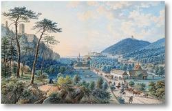 Картина Пейзаж с замком