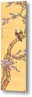 Картина Горлицы и цветы персика