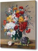 Картина Букет цветов и фиалок, Каучис Эжен