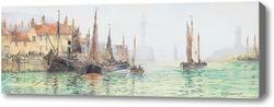 Картина Уитби гавань, Скарброуг Франк