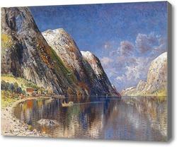 Картина Озеро в горах