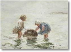 Картина Молодые рыбачки