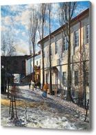 Картина Весна в Вильнюсе
