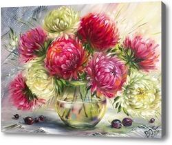 Картина Астры в вазе