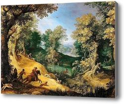 Картина Оленья охота