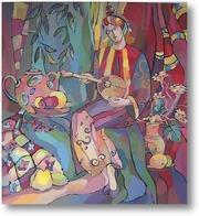 Картина Девушка с мандалиной