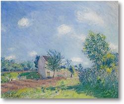 Картина Весенний пейзаж-дорога на окраине Море-сюр-Луан
