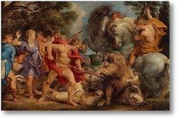 Картина Фламандская охота на кабана