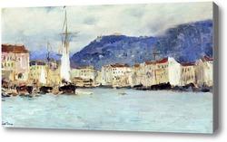 Картина Итальянский пейзаж. 1890