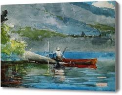Картина Красная лодка.