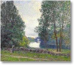 Картина На берегу реки, 1896 г.