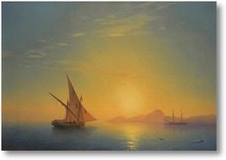 Картина Закат над Искья