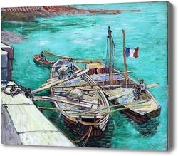 Картина Закрепленные корабли