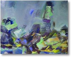 Картина башня синих птиц