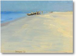 Купить картину Рыбаки на берегу моря в Скаген