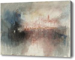 Картина Пожар в большом хранилище Лондонского Тауэра