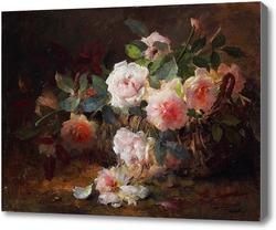 Картина Розы в корзине, Мортельманс Франс