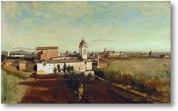 Картина Вид церкви Тринита деи Монти от виллы Медичи