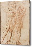 Картина Два стоящие фигуры, один ангел