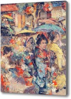 Картина Цветочный рынок, Нагасаки