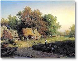 Купить картину Деревня