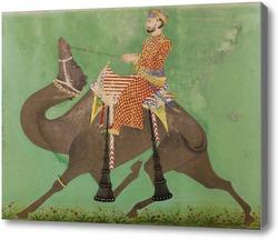 Картина Химмат Рамджи Кунвар едет на верблюде
