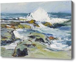 Картина Волны, бьющиеся о берег