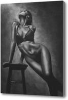 Картина Серия о женщинах: обнаженная фигура со стулом