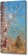 Картина Фигура около цветущего дерева