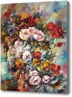 Картина Цветочный натюрморт, Хосе Вивес-Атсара
