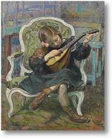 Картина Маленький игрок мандолины (Марта Лебаск), 1905