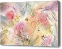 Картина Травы, да цветы