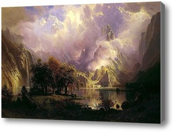 Картина Скалистый горный пейзаж