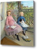 Купить картину На балконе