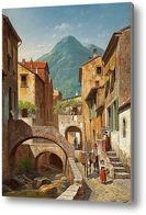 Купить картину Сцена итальянской деревни